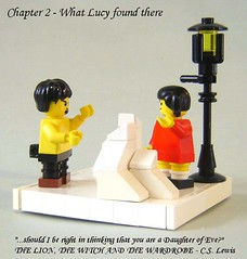 What Lucy Found There (DARKspawn) Tags: lucy lego fantasy narnia vignette tumnus