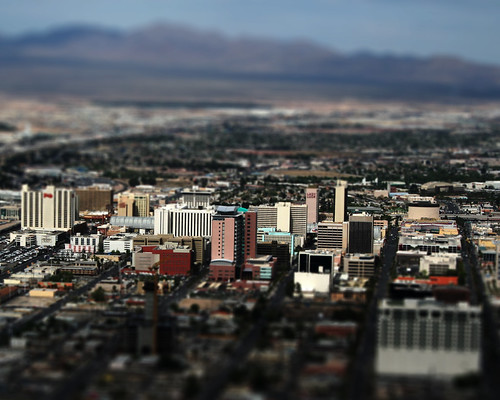 Semi-Tilt-Shift Downtown Las Vegas