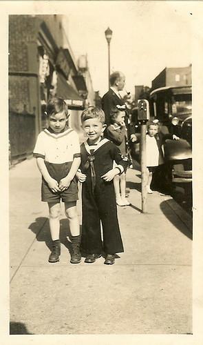 Vintage photograph, boys 1942