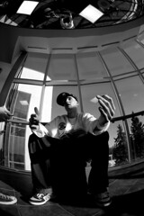 Fisheye (Chris Beauchamp) Tags: people calgary portraits rapper gauntlet fisheyegauntlet boxcutta copyrightchrisbeauchamp20072009