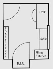 Office floorplan - before