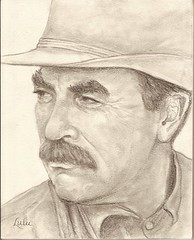 More Cowboy Tom Selleck - In Pencil