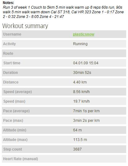 #road Couch to 5km Week 1 Run 3 - SportsTracker