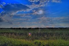 Chevington sun rays HDR