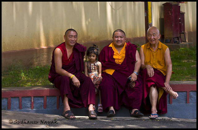 Sonakshi with monks
