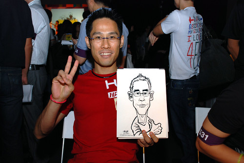 caricature live sketching for SDN First Anniversary Bash - 15