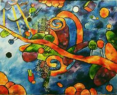le città (Roberto Valenzano) Tags: quadro colori artista quadri espressionismo dipinto astrattismo atrte lecittà