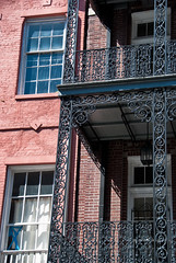 Still more wrought iron (kightp) Tags: architecture nikon neworleans frenchquarter frenchmarket 2010 decaturstreet d80 wroughtironbalcony
