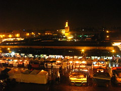 Jame3 Al-Fana at night (Lezan) Tags: morocco madina marrakech 2009  djemaaelfna jame3 alfana