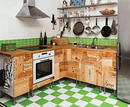New inspiration: Kitchen Cabinets Inspired by Wine Crates by New Inspiration Home Design