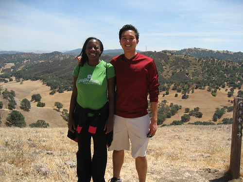 Bola and Rey hiking at Black Diamond Mines