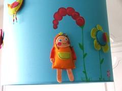 Candeeiro de tecto (Susana Tavares) Tags: azul arte infantil criança decoração bébés quartos aplicações abajours pintadoámão candeeirosdetecto ateliersusanatavares
