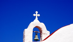 Curves (Aster-oid) Tags: blue red beautiful bells churches chapels greece redandblue coolest steeples mykonos ih