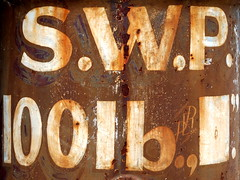 Industrial Strength Punctuation (Roger B.) Tags: industry rust oxidation lettering punctuation wortleytopforge