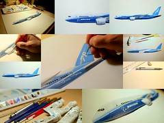 Gouache illustration in the making Boeing 787 Dreamliner (Greg Bajor) Tags: art watercolor painting airplane paint artist aviation jet aeroplane brush boeing gouache gregory sideview realistic profileview 787 birdlike bajor dreamliner birdlikeimages gregbajor