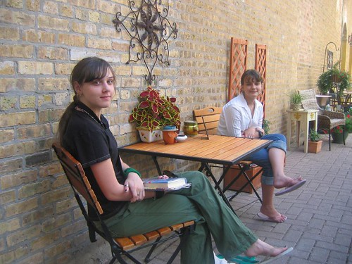 Girls Relaxing in the Alley