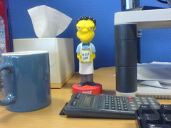 Moe on my desk
