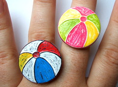 Beach Ball Rings - PCAGOE July Summer Memories Challenge Entry
