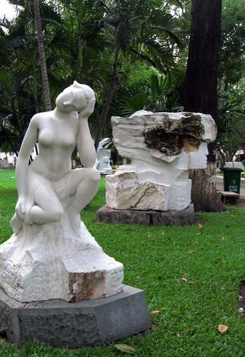 We walked through a sculpture garden