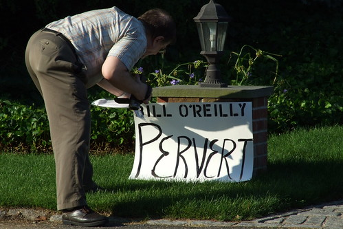 O'Reilly's landmark entrance to his driveway