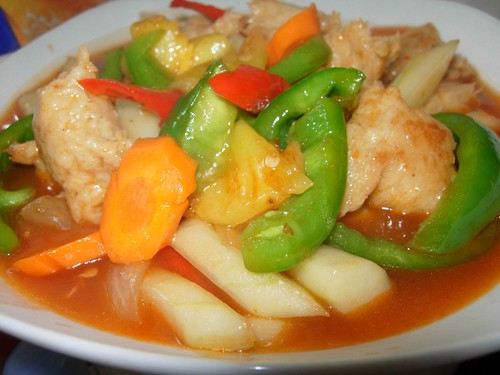 vegetarian sweet and sour chicken