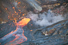 Spattering from a vent feeding a rapid flow of lava on Hawaii (volcanodiscovery) Tags: volcano hawaii lava bigisland eruption kilauea spattering lavaflow lavafountain