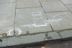 Mysterious Chalk Drawing - Balfe Street