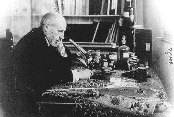 Santiago Ramon y Cajal at Work