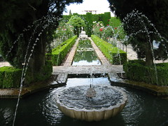 Fuentes en la Alhambra (Granada)