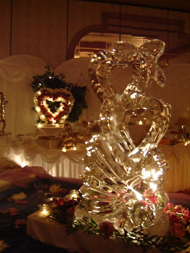 The ice sculpture.