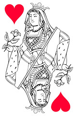 Queen of Hearts (tytoalba) Tags: hearts queen card playingcard