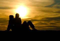couple,silhouette,sunset,romance,evening,kalemegdan