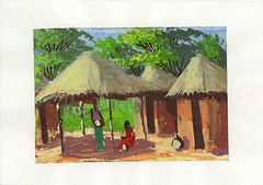 Note card from D.R. Congo