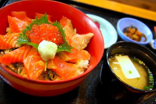 Oyakodon de salmon