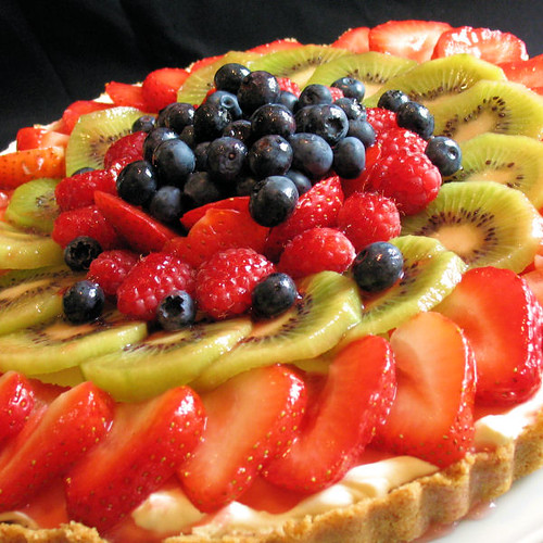 Fruit Torte Cake Made With Coolwhip