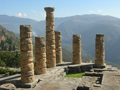 delfi (g.fulvia) Tags: trip ruins stones unesco worldheritagesite greece pietre grecia column colonne antiquity ellas delfi