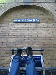 Day #271 -  FUTAB on Platform 9 & 3/4 (sosij) Tags: selfportrait feet harrypotter 365 kingscross hogwarts myfeet day271 hogwartsexpress luggagetrolley platform9and34 feetupfriday futab thankstojaceyboyforencouragingmetodothis nooneevenbattedaneyelid