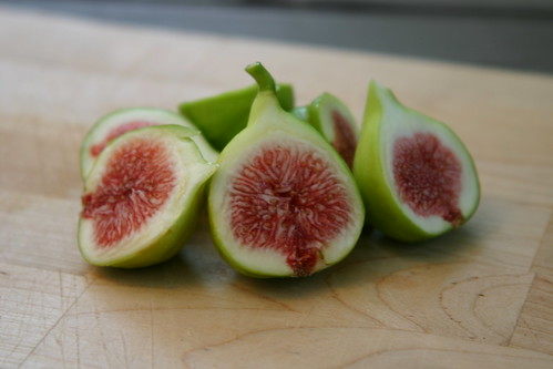 Fresh figs! From the tree in our yard