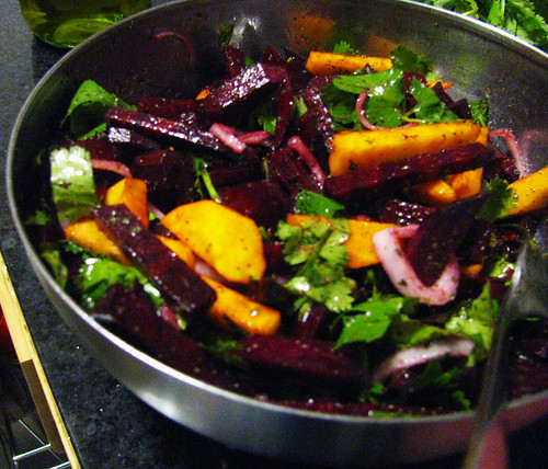 Raw Red & Gold Beet Salad w/Cilantro