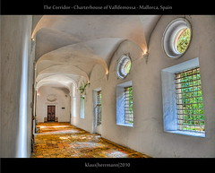 The Corridor - Charterhouse of Valldemossa - Mallorca, Spain (HDR) (farbspiel) Tags: travel vacation holiday tourism photoshop photography nikon wideangle journey handheld nikkor mallorca esp dri hdr highdynamicrange spanien valldemossa workflow charterhouse postprocessing dynamicrangeincrease 18200mm d90 photomatix tonemapped tonemapping detailenhancer topazadjust topazdenoise klausherrmann topazsoftware hdrworkflow nikonafsdxnikkor18200mm13556gedvr