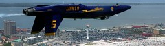Angels Over The Beach (Mona Hura) Tags: florida pensacolabeach blueangel copyofphotothatwasgiventome