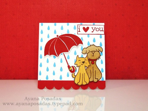 I Heart You in the Rain (Front)