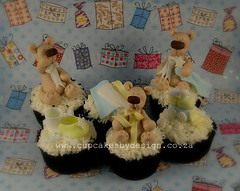 Baby Shower cuppies (Dot Klerck....) Tags: wedding cake chocolate capetown dot teddies babyshower fondantmodelling cupcakesbydesign