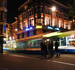 light power (Katratzi) Tags: amsterdam night lights colours tram amsterdamnights