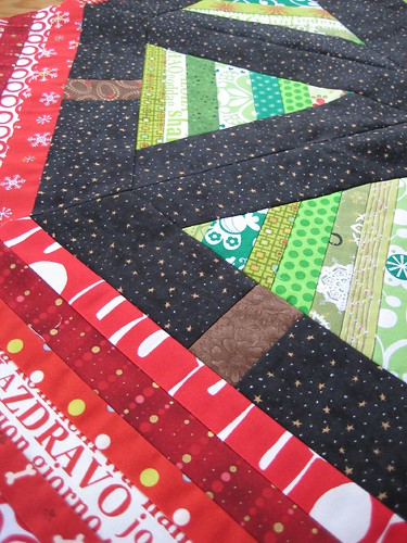 starry night tree skirt oblique view - by Poppyprint