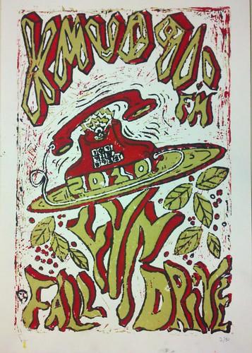 Linoleum print by Dan Murphy