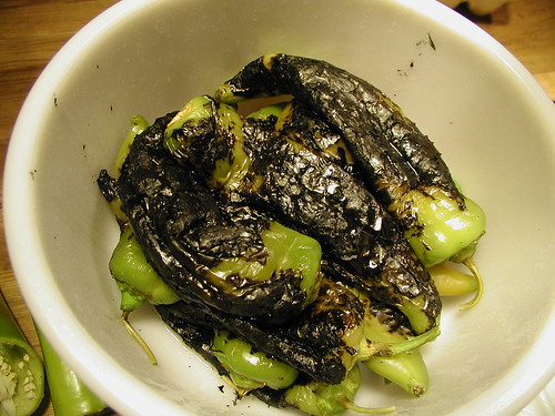Roasted Green Chiles by QueenieVonSugarpants on Flickr