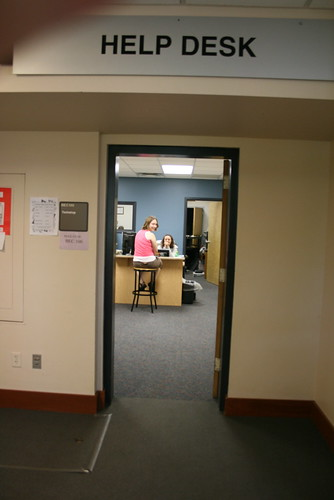 room labeled help desk