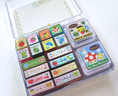 Q-lia    :: Smile Pocket Stamps :: (Warm 'n Fuzzy) Tags: cute mushroom stamps collection kawaii inks qlia smilepocket