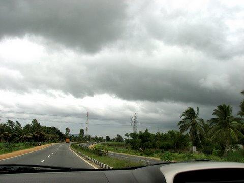 Monsoon weather road to mysore
